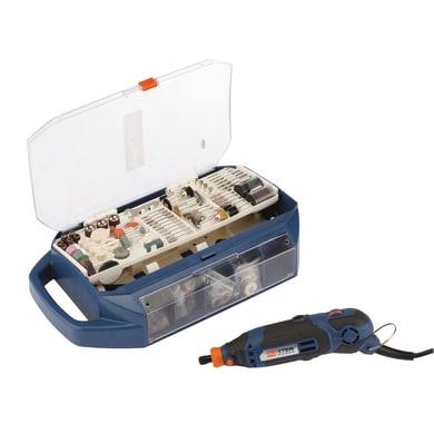 Miniutensile elettrico DEXTER POWER con 198 accessori in valigetta
