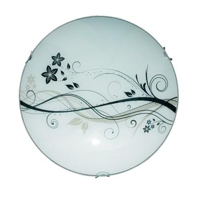 Plafoniera classico Lotus bianco, in vetro,  D. 30 cm 30 cm, LUMICOM