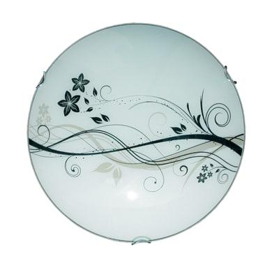 Plafoniera classico Lotus bianco, in vetro,  D. 40 cm 40 cm, 2  luci LUMICOM