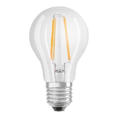 Lampadina LED filamento, E27, Goccia, Trasparente, Luce calda, 7W=806LM (equiv 60 W), 300° , OSRAM