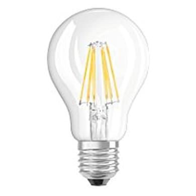 Lampadina LED filamento, E27, Goccia, Trasparente, Luce calda, 6.5W=806LM (equiv 60 W), 320° , OSRAM