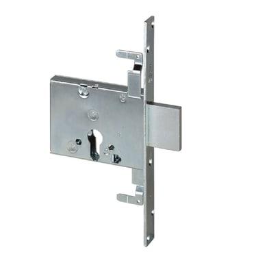 Serratura a incasso cilindro per cancello o rete, entrata 6 cm, interasse 60 mm sinistra e destra