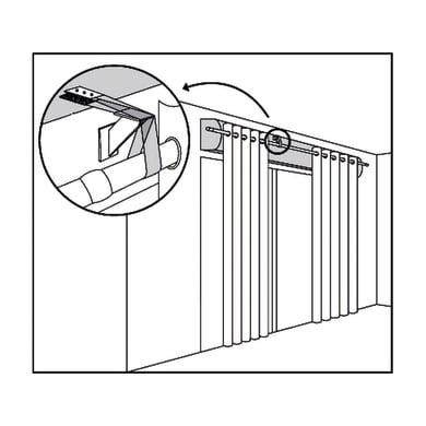 Supporto singolo chiuso Ø25mm Ib+ in acciaio trasparente opaco6 cm