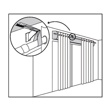 Supporto singolo chiuso Ø25mm trasparente opaco6 cm