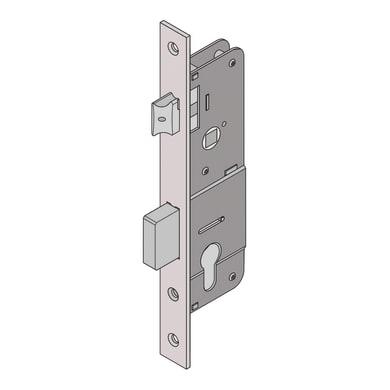Serratura a incasso cilindro per cancello o rete, entrata 3.5 cm, interasse 35 mm sinistra e destra