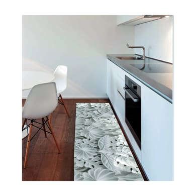 Tappeto Vista Foglie , nero, 50x180 cm