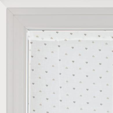 Tendina vetro Andorra bianco e beige tunnel 60 x 150 cm