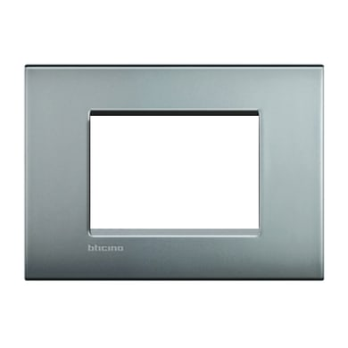 Placca BTICINO Living Light Air 3 moduli nichel satinato