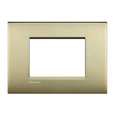 Placca BTICINO Living Light Air 3 moduli oro satinato