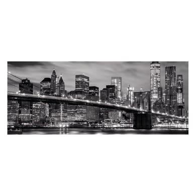 Quadro in vetro New York Black&White 125x50 cm