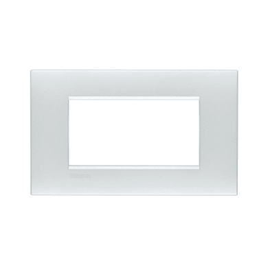 Placca BTICINO Living Light Air 4 moduli bianco perla