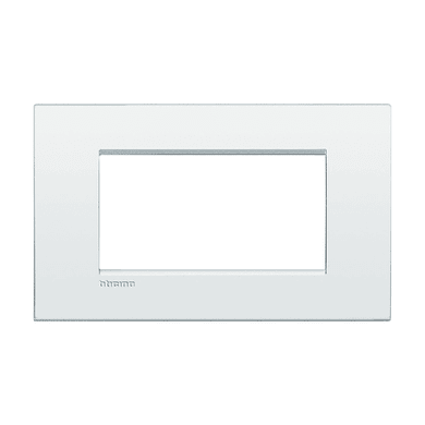Placca BTICINO Living Light Air 4 moduli bianco