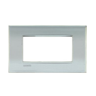 Placca BTICINO Living Light Air 4 moduli palladio