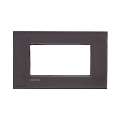 Placca BTICINO Living Light Air 4 moduli peltro