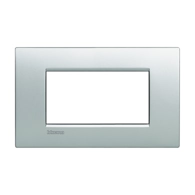 Placca BTICINO Living Light Air 4 moduli techtech