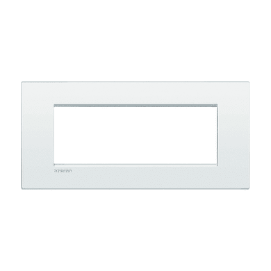 Placca BTICINO Living Light Air 7 moduli bianco puro