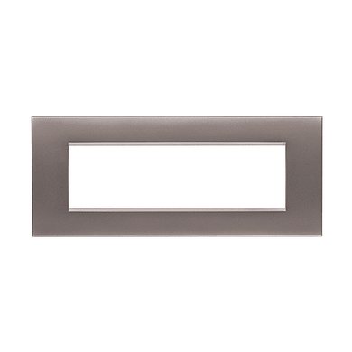 Placca BTICINO Living Light Air 7 moduli nichel satinato