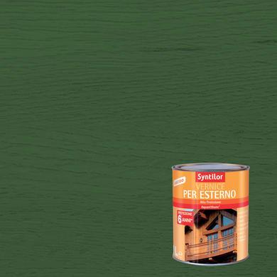 Vernice per legno da esterno liquido SYNTILOR 1 L verde lucido