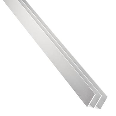Profilo doppia u STANDERS in alluminio 2.6 m x 1.6 cm grigio