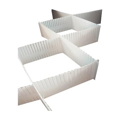 Divisorio L 44 x H 10 x P 0.3 cm bianco