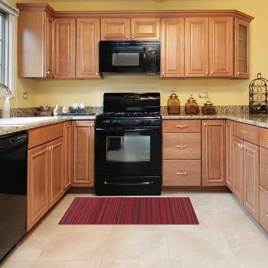 Tappeto cucina antiscivolo Deco stripes , rosso, 53x75 cm
