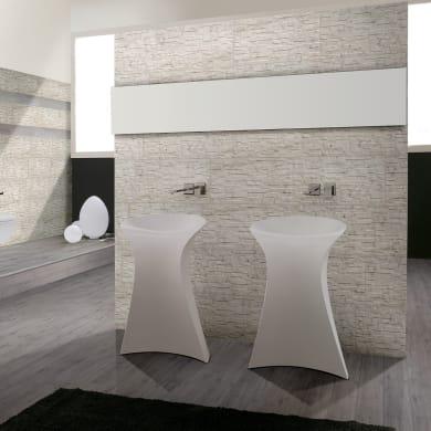 Rivestimento Granito Carrara 62 x 62 cm sp. 9 mm bianco