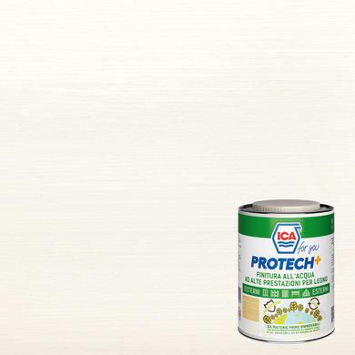 Vernice per legno da esterno liquido ICA FOR YOU PROTECH+ 2.5 L bianco opaco