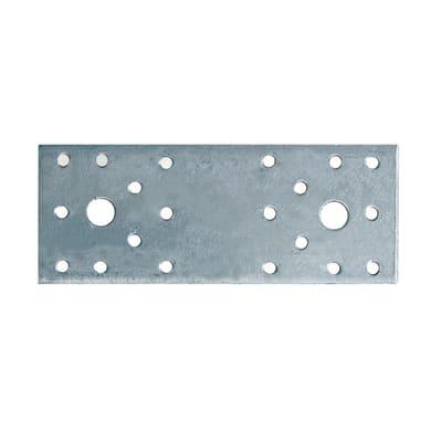 Piastra dritta in acciaio zincato L 95 x Sp 2 x H 35 mm