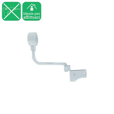 Supporto singolo chiuso Ø20mm Nilo in acciaio bianco lucido16 cm