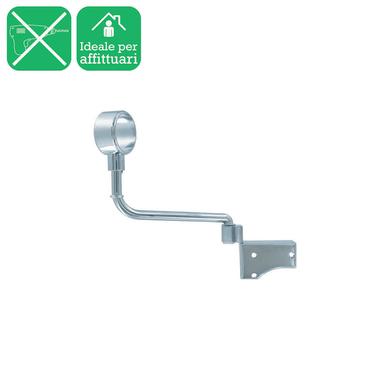 Supporto singolo chiuso Ø20mm Nilo in acciaio cromo lucido16 cm