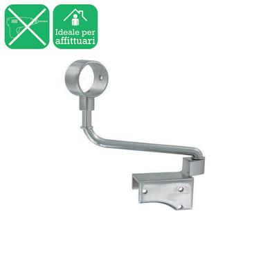 Supporto singolo chiuso Ø20mm Nilo in acciaio cromo spazzolato16 cm
