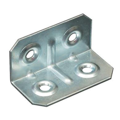 Piastra angolare in acciaio zincato L 20 x Sp 1 x H 40 mm  4 pezzi