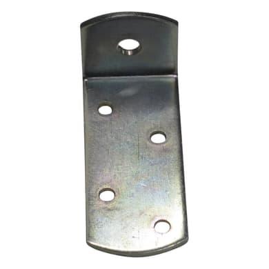 Piastra angolare standers in acciaio zincato L 70 x Sp 2 x H 30 mm
