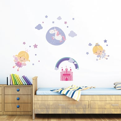 Sticker Happy fairies 47.5x70 cm