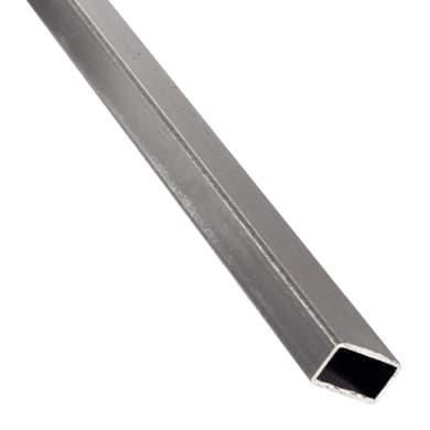 Profilo tubo rettangolare STANDERS in acciaio 1 m x 3 cm grigio