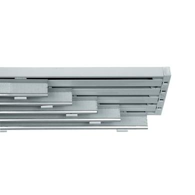 Binario per pannello giapponese singolo 5 vie Cruiser alluminio 280 cm bianco