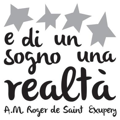 Sticker Sogno e realtà 31.5x34 cm