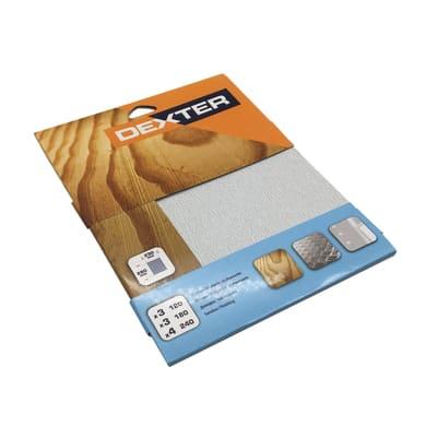 Carta abrasiva DEXTER SP433-10 per legno / vernice grana 4 x 240, 3 x 180, 3 x 120, 10 pezzi