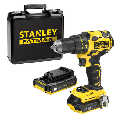 Trapano a percussione a batteria STANLEY FATMAX brushless FMC627D2-QW 18 V, 2 Ah, 2 batterie