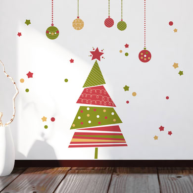 Sticker Christmas tree 22.5x67 cm