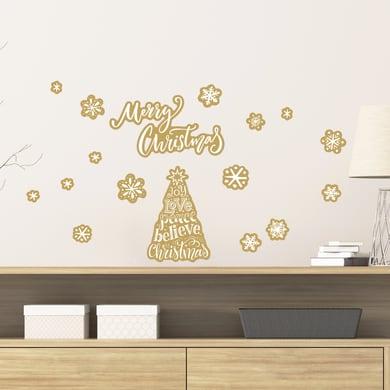 Sticker Albero di Natale 15x31 cm