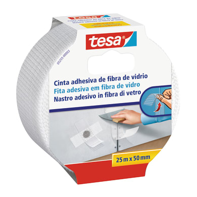 Nastro per fessure TESA bianco 25 m x 50 mm