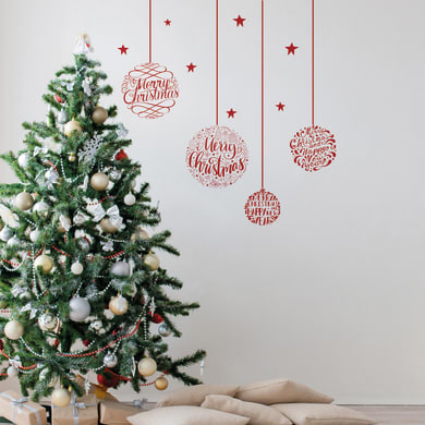 Sticker Sfere di Natale 22x67 cm