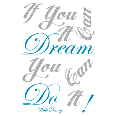 Sticker Dream it & do it 47.5x70 cm