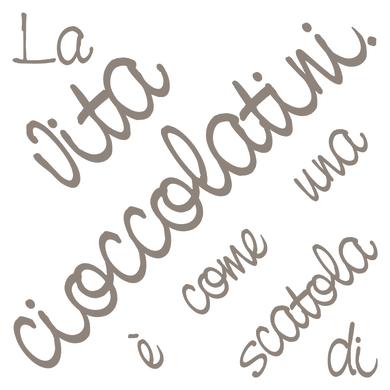 Sticker Cioccolatini 31.5x34 cm