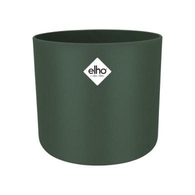 Portavaso b.for soft rond ELHO in polipropilene colore verde foglia H 16.7 cm, P 18.3 cm Ø 18.3 cm