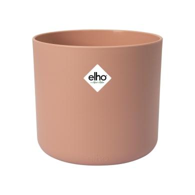 Portavaso b.for soft rond ELHO in polipropilene colore rosa delicato H 16.7 cm, P 18.3 cm Ø 18.3 cm