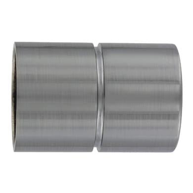Finale per bastone Ø25/28mm Ib+ cilindro in zama grigio opaco Set di 2 pezzi