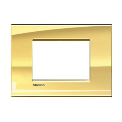 Placca BTICINO Living light 3 moduli oro freddo
