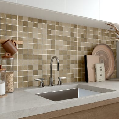 Mosaico Living Mix H 30 x L 30 cm marrone
